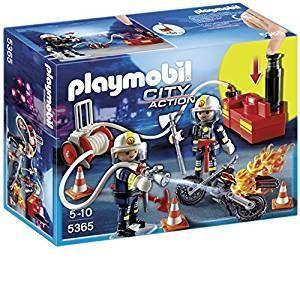 Playmobil 5365 - Pompiers Avec Lance Incendie