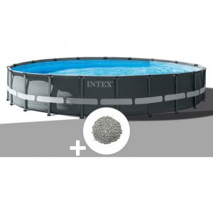Intex Kit piscine tubulaire Ultra XTR Frame ronde 6,10 x 1,22 m + 20 kg de zéolite