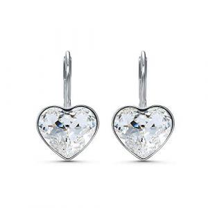 Swarovski Boucles d'oreilles 5515191 - Boucles d'oreilles métal rhodié blanc c?ur cristal Femme