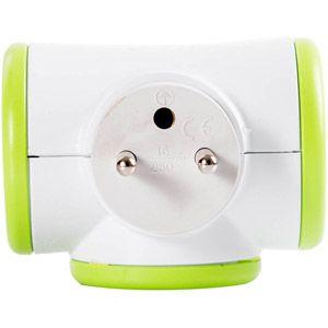 Watt & co Ampoule, pile et électricité Watt&co TRIPLITE 3X16A ROTATIVE VERTE