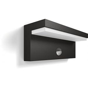 Philips lighting Philips luminaire extérieur LED applique avec détection Bustan gris lumière lumière blanc froid
