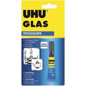 UHU Colle spéciale GLAS, 3 g dans un tube, transparente