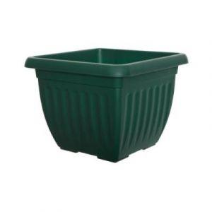 Whitefurze G07S40 Athens Pot De Fleurs Carrée Vert 40 Cm