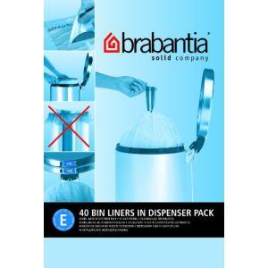 Brabantia Lot de 40 sacs poubelle distributeur PerfectFit - 20L