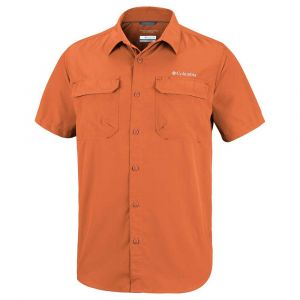 Columbia Silver Ridge II Chemise à Manches Courtes Homme, Orange (Desert Sun), L