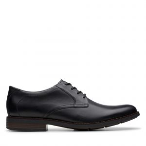 Clarks Becken Lace, Brogues Homme, Noir (Black Leather Black Leather), 45 EU