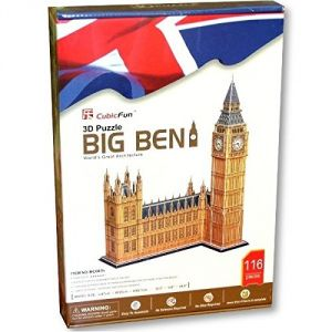 CubicFun Puzzle 3D Londres : Big Ben (117 pièces)