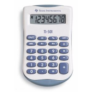 Texas instruments TI-501 - Calculatrice de poche