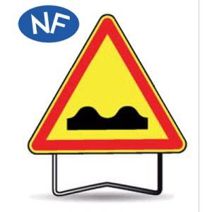 Taliaplast 522101 - Panneau signalisation danger dos d'âne ak2 c2 1000mm