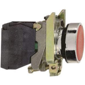 Schneider Electric Bouton-poussoir vert Ø 22 mm à impulsion affleurant XB4BA31 Harmony