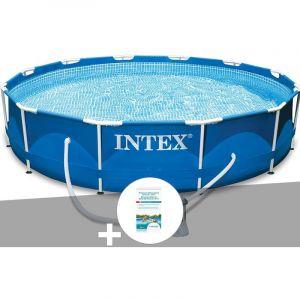 Intex Kit piscine tubulaire Metal Frame ronde 3,66 x 0,76 m + Kit de traitement au chlore