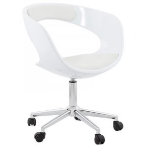 Kokoon Design Chaise de bureau blanche Pivotante AUSSI AFTER