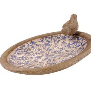Esschert design Abreuvoir pour oiseaux en céramique
