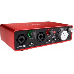 Focusrite Scarlett2 2i2 - Interface audionumérique USB Scarlett 2nd Generation