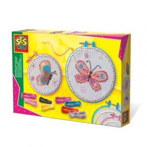 Ses Creative Kit de broderie Papillons