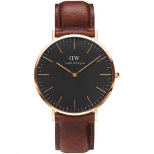 Daniel Wellington DW00100124 - Montre pour homme avec bracelet en cuir