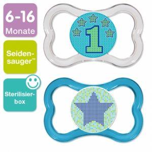 Image de Mam 2 sucettes Air en silicone T2 (6-16 mois)