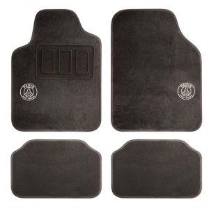 4 tapis voiture universels PSG Premium noirs