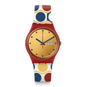 Swatch Mixte Analogique Quartz Montre avec Bracelet en Silicone GR708