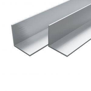 VidaXL Cornière Aluminium 4 pcs Profile en L 1 m 15x15x2 mm