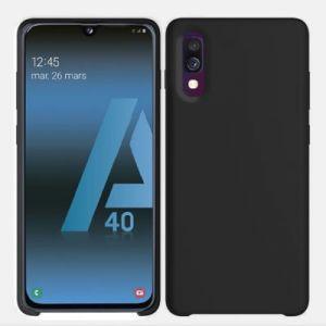 Ibroz Coque Samsung A40 Liquid Silicone noir