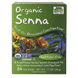 Now Foods Tea Bags, Senna, 24 Count