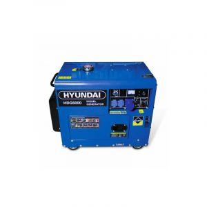 Hyundai Groupe électrogène diesel 4500 W 5000 W - Monophasé HDG5000