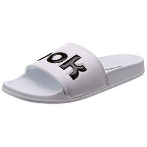Reebok Classic Slide, Chaussures de Plage et Piscine Mixte Adulte, Blanc (Splt/White/Black 000), 43 EU