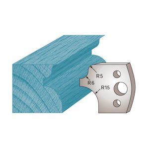 Diamwood Platinum Jeu de 2 fers profilés Ht. 40 x 4 mm quart de rond et talon M11 pour porte-outils de toupie