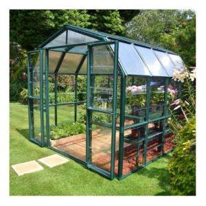 Palram Serre de jardin en polycarbonate Rion Grand Gardener 7,04 m², Ancrage au sol Non - longueur : 2m64