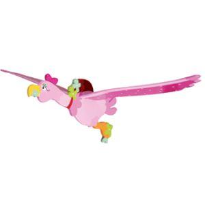 Le Coin des Enfants Mobile décoratif volant en bois L'hirondelle rose