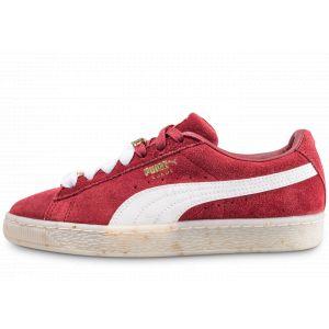 Puma Suede Classic Bboy Fabulous Rouge et Blanche Baskets Femme