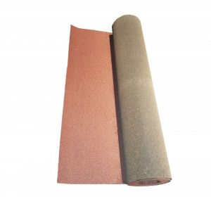 McCover Rouleau de bardeau bitumé 10 x 1 m - Coloris - Rouge, Largeur - 1 m, Longueur - 10 m Rouge - 10 m / 1 m /