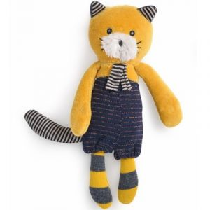 Moulin roty Petite peluche chat moutarde Lulu Les Moustaches