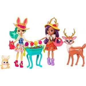 Mattel Enchantimals - Coffret 2 poupées et accessoires Jardin Magique