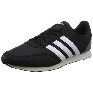 Adidas V Racer 2.0, Chaussures de Running Homme, Noir (Core Black/Solar Red/Footwear White 0), 43 1/3 EU
