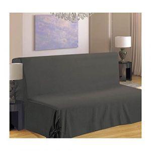 Homemaison HM69F516-80 Housse de Canapé pour BZ Polyester Gris 190 x 140 cm