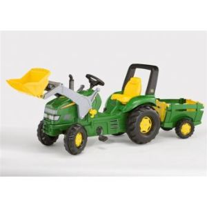 Rolly Toys Tracteur à pédales John Deere X-Trac avec chargeur et remorque