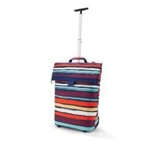 Sac à roulettes Trolley taille M rayures multicolores 43x53x21 cm