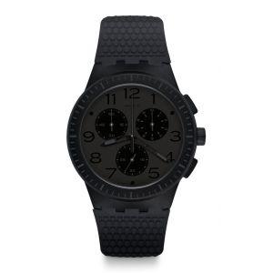 Swatch Homme Chronographe Quartz Montre avec Bracelet en Silicone SUSB104