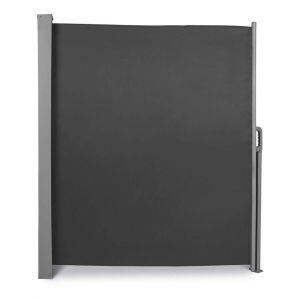Auvent store latéral brise-vue abri paravent soleil aluminium rétractable hauteur 200 cm longueur 300 cm vert gris
