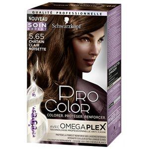 Schwarzkopf Coloration châtain clair noisette 5.65 - Pro Color - La boite de 166,80 ml