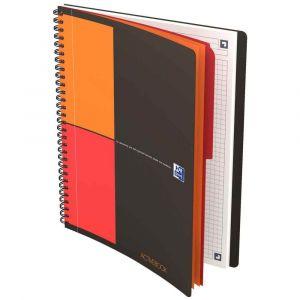 Oxford 400080786 - Cahier Activebook rel. intégrale B5 160p./80 feuilles 80g/m², quadrillé 5x5, avec intercalaires