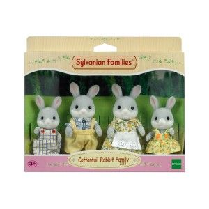 Epoch 4030 - 4 Figurines Famille Lapin Gris