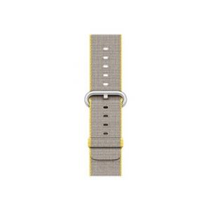 Apple Bracelet de montre Apple watch 42mm Nylon tressé Jaune Gris