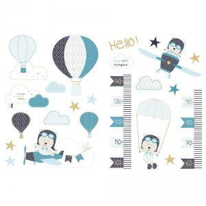 Sauthon Autocollants stickers décoratifs Lazare