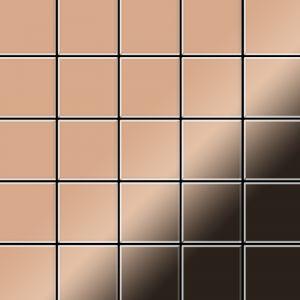 Alloy Mosaïque métal massif Carrelage Cuivre laminé cuivre Grosseur 1,6mm Century-CM 0,5 m2