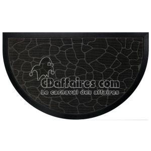 Tapis d'entrée paillason demi-lune Galets (45 x 75 cm)