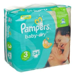 Pampers Baby Dry T3 (5-9 kg) - 34 couches