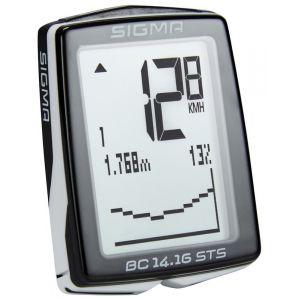 Image de Sigma BC 14.16 STS CAD Ordinateur de vélo - Noir / Blanc